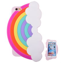 Custom Made 3D Rainbow Compatible Skid-proof Soft Liquid Silicone Rubber mobile Cover Bumper Cell Phone Case For blu