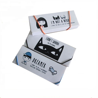 Custom design PP pencil box/ cute cat pencil box pencil case with elastic