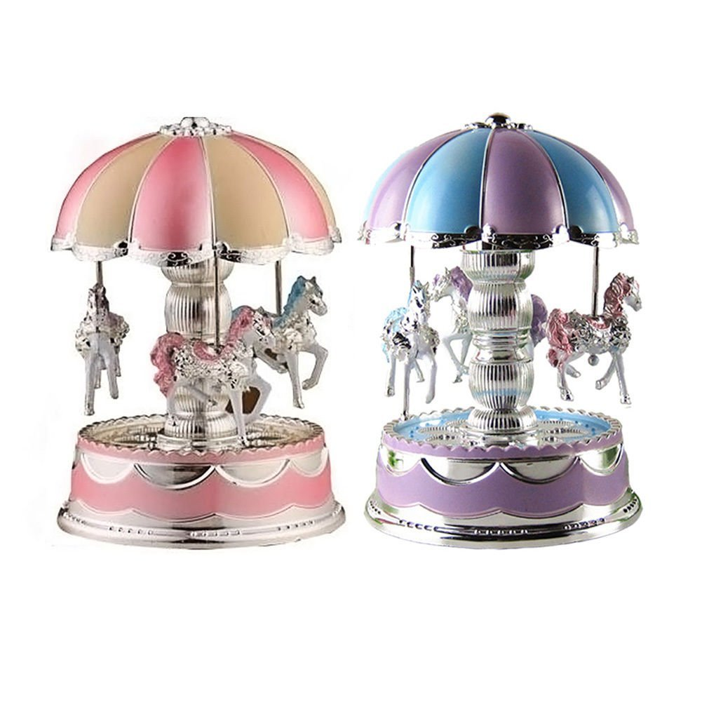 Kids Girl Boy LED Horse Carousel Music Box Toy Clockwork Musical Christmas Gifts ,Music Box Toy Clockwork Musical ,jack in the box musical toy ,kikkerland music box