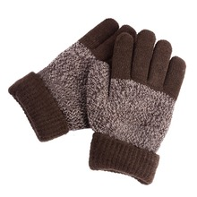 Sales Hot Autumn Winter Five Fingers Kids Gloves Boys Girls Mitten Thick Warm Cashmere Student Gloves YL66