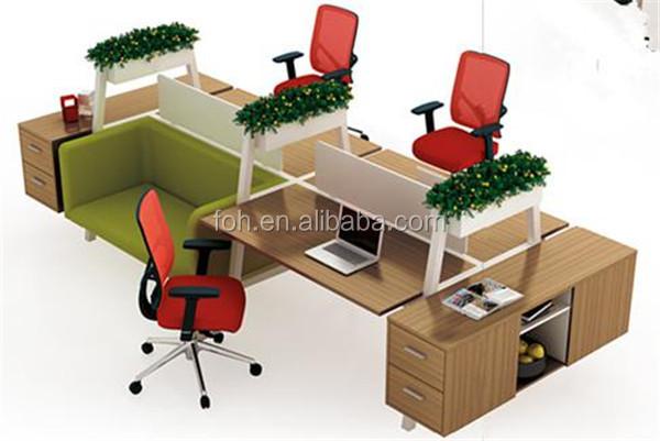 simple design 3 person computer desk office