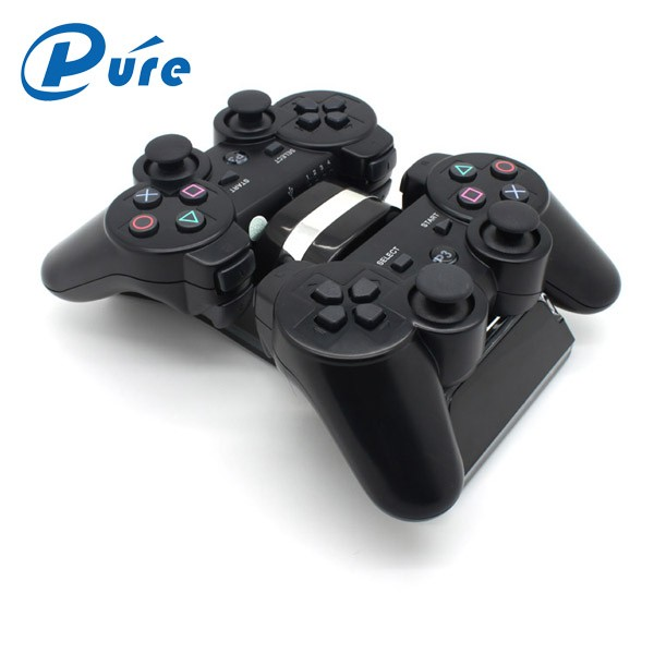 Dual Opladen Terug Stand Docking Station met LED licht Indicator Compatibel voor Sony PlayStation PS3/PS 3 Slim Controller
