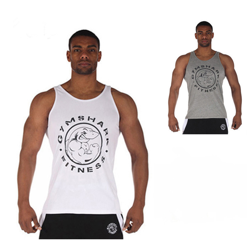 78f941e6 Buy Yan Gym Shark Fitness Gym Vest,Bodybuilding Stringer Tank Top Mens  Cotton Sleeveless Shirts for Muscle Men Workout Sports Tops in Cheap Price  on ...