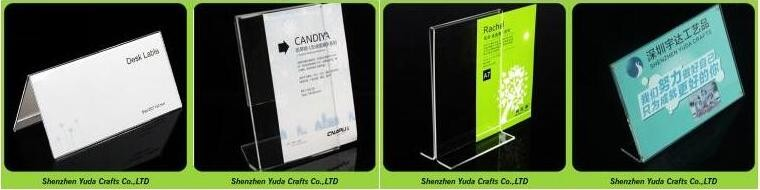 Plastic Menu Holder Poster Display Sign Holders Double Sided - Acrylic menu table tent holders