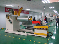 Automatic uncoiler leveler and feeder machine for hardware punch production line