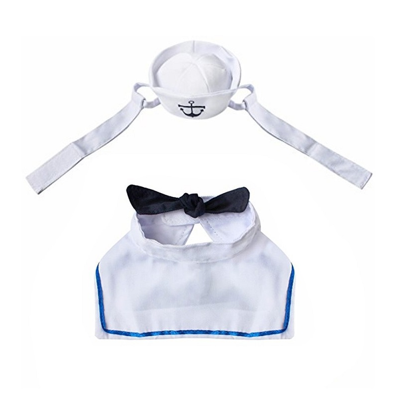 Hot selling in amazon dog puppy and cat cosplay sailor costume kitten cloth
