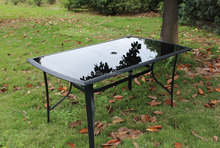 Outdoor Garden Pool Yard Tempered Glass Dinning Table