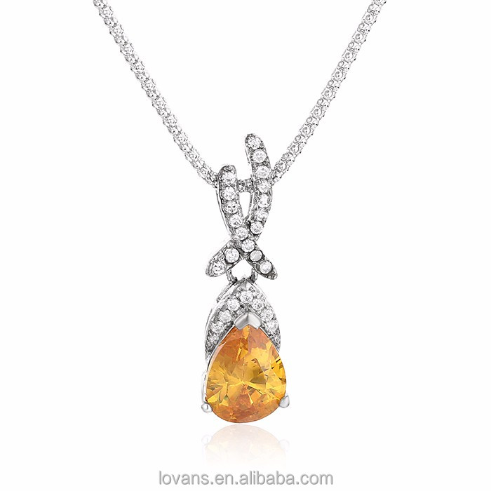 Pictures of Diamond Necklace Custom 925 Silver Imitation Jewellery Pictures