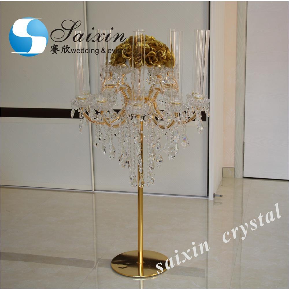 Wedding crystal candelabra, Crystal Candleholder on Sale