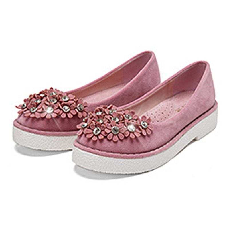 Women Casual Soft Suede Pattern Shoes  Flats Round Toe Ladies Slip On Moccasins Loafers  flowers cow muscle shoes JF001