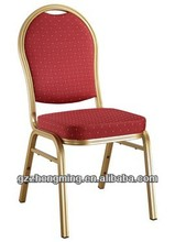 Modern Stacking Banquet Hall Chair Fabric Hotal Chair/Iron Frame Dinging Chair D-003