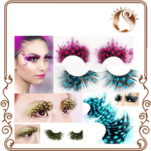 high quality colorful handmade feather ball false eyelashes