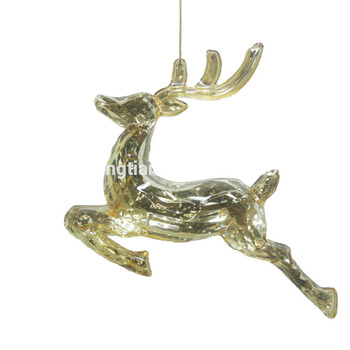 Acrylic Reindeer Ornament Singing Christmas Decorations Ornaments Moving