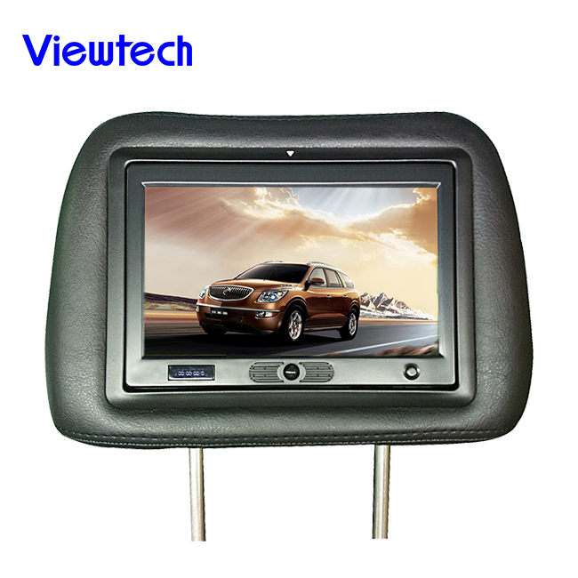 2016 full hd 7 inch taxi headrest advertisment monitor with av input