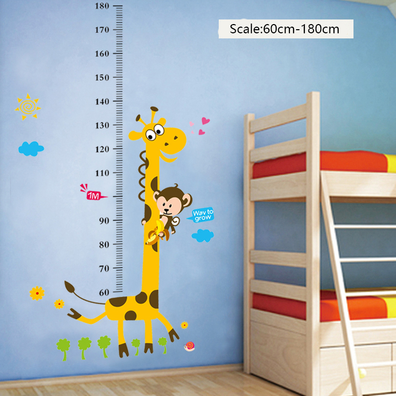 Birthday Giveaways Wall Decoration Sticker Measuring Kids Height