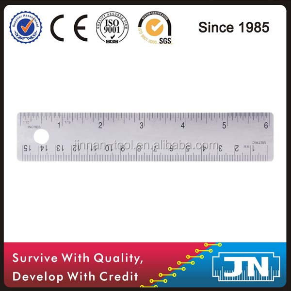 OEM 150mm Corked-backed Stainless Steel Ruler (JN02-015) for student and office use