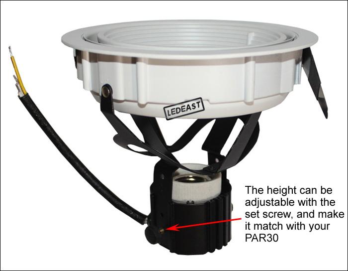Par30 Recessed Downlight Fixture Led Bulb E27 Lamp Holder Pendant ...