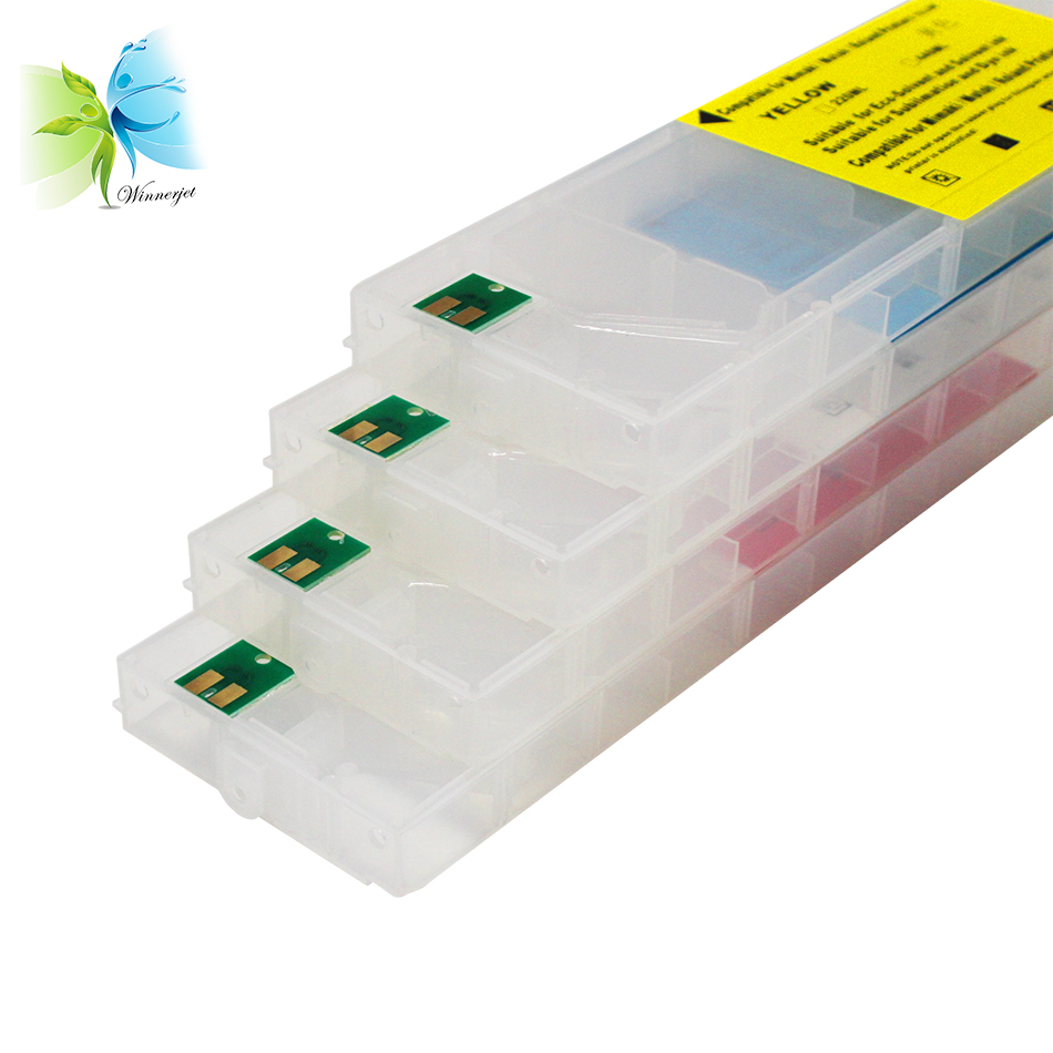 High quality 440ml Empty Refillable Ink Cartridge with permanent chip for Roland XC-540 540MT printers