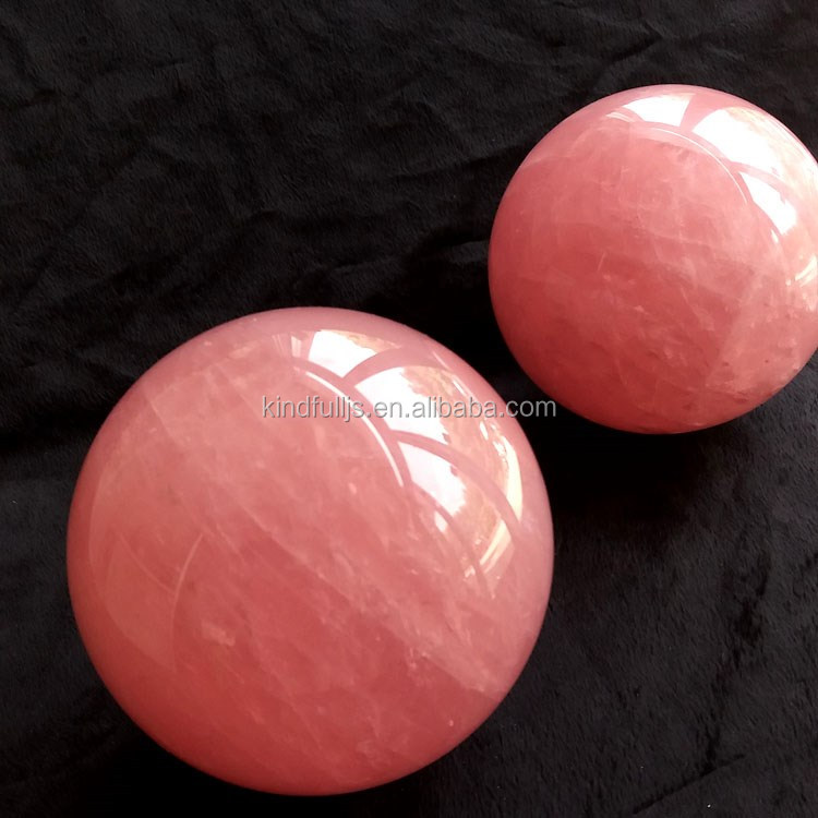 wholesale top quality natural rock rose quartz spheres pink crystal ball