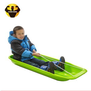 Outdoor fitness plastic snow sleds for adults