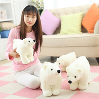 2017 High Quality Cute Polar Bear Plush Toy Bear Stuffed Animal Toys Valentines Birthday Gifts 20cm