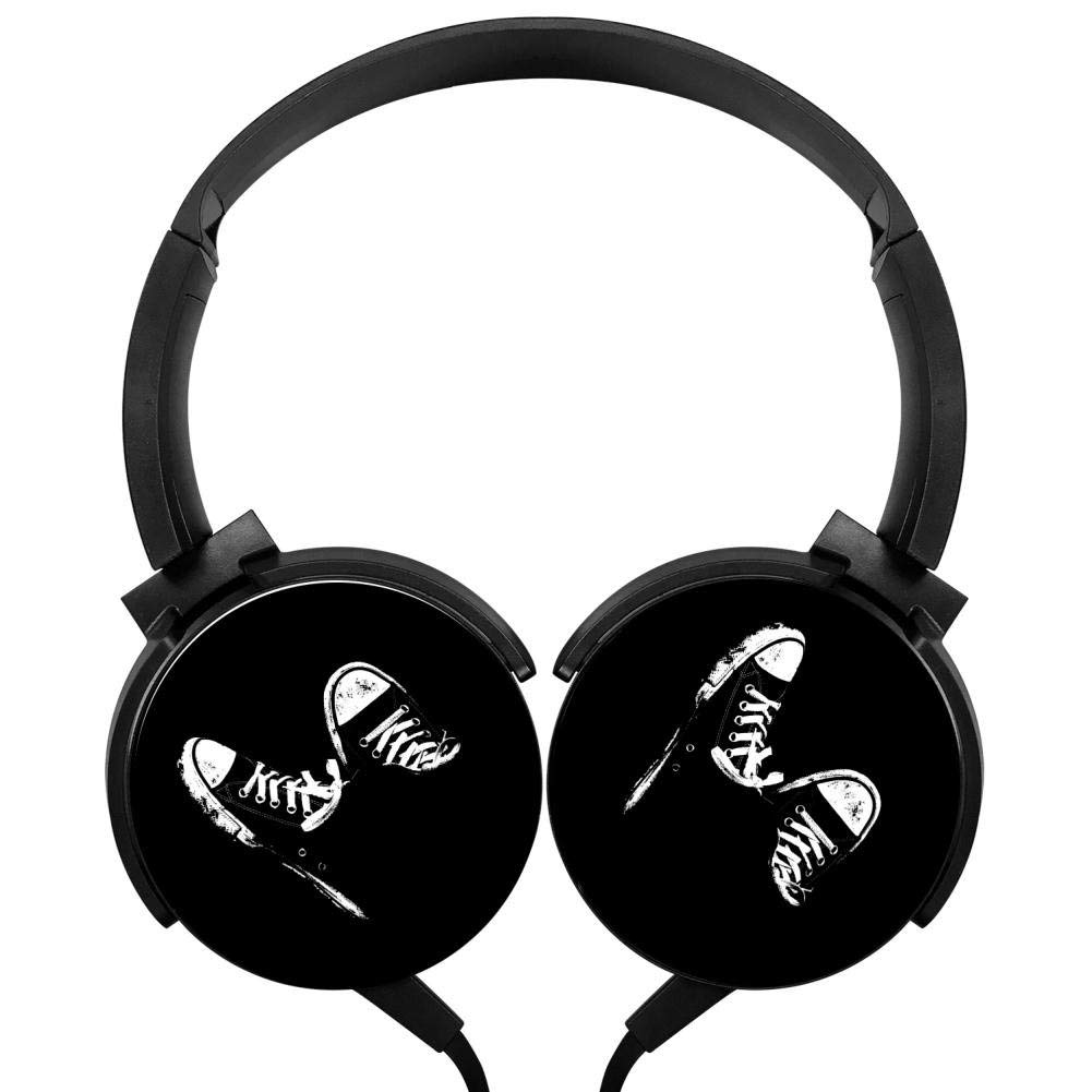 Xerjij Shoes Wired Stereo Headset Bass Headphones for Computers Mobile Devices