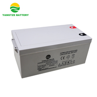 2000+ cycles 12V 250AH solar gel battery with 10 years designed working life