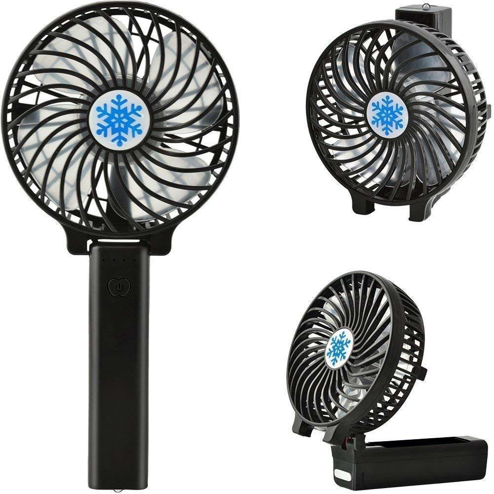 Get Quotations Ralmall Handheld Electric Fans Mini Portable Fan Foldable Desktop Rechargeable