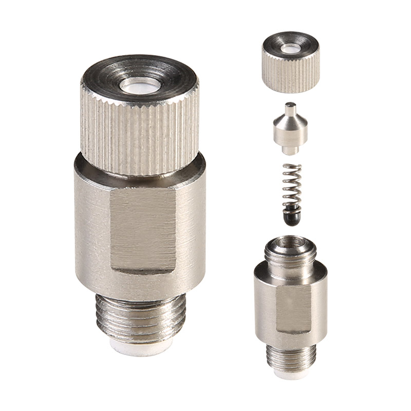 Tekanan Tinggi Outdoor Kuningan/Stainless Steel Air Spray Nozzle untuk Sistem Pendingin