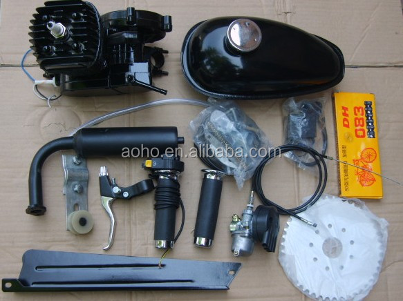 cheap gas powed 2 stroke 49cc bicycle engine kit 80cc 50cc 66cc