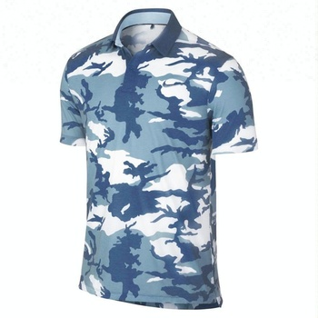 67b2feef Men's summer casual Polo shirt high quality camouflage printed golf shirt