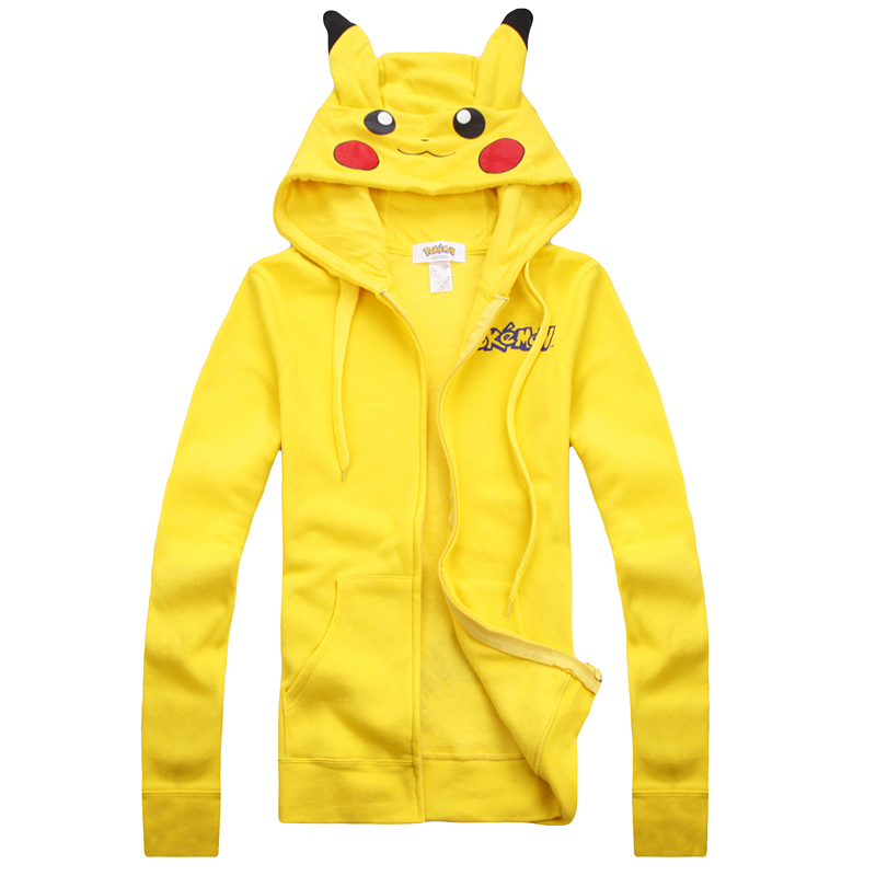 0ea2455fdcd Get Quotations · Hot Cute Cotton Blend Yellow Pikachu Pokemon Anime Hoody  Sweatshirt Hoodie Halloween Cosplay Costume Free Shipping