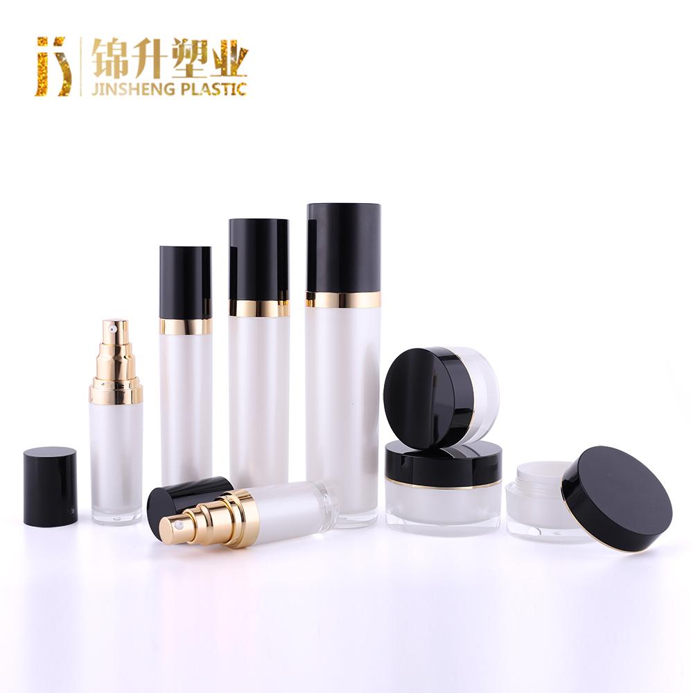 शीर्ष गुणवत्ता कस्टम लोगो थोक दौर लक्जरी एक्रिलिक सौंदर्य प्रसाधन कंटेनर और पैकेजिंग