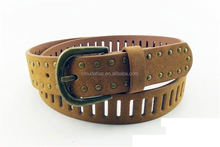 Fashion genuine pin buckle fashion harness leather belt for women
