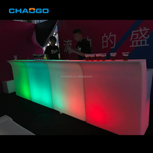 Rgb color changing outdoor chiếu sáng glow led <span class=keywords><strong>di</strong></span> <span class=keywords><strong>động</strong></span> bar nhựa led quầy bar xách tay quầy bar