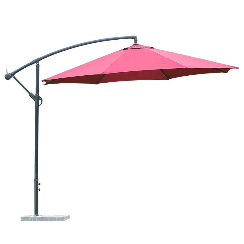 outdoor hanging banana umbrella waterproof cantilever garden beach patio sun canvas parasol iron restaurant umbrella