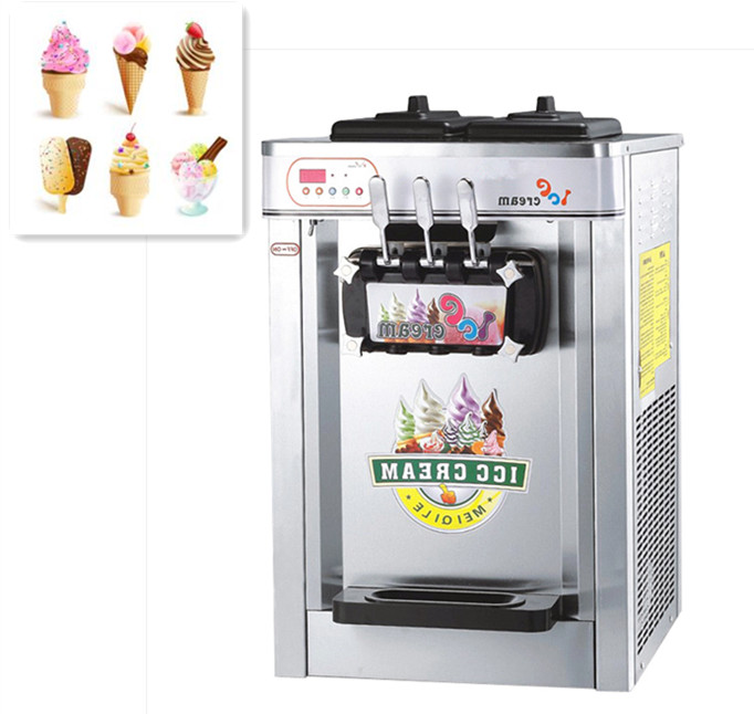 3 flavor high quality 22L soft ice cream machine for sale ice-cream machine table top ice cream machine
