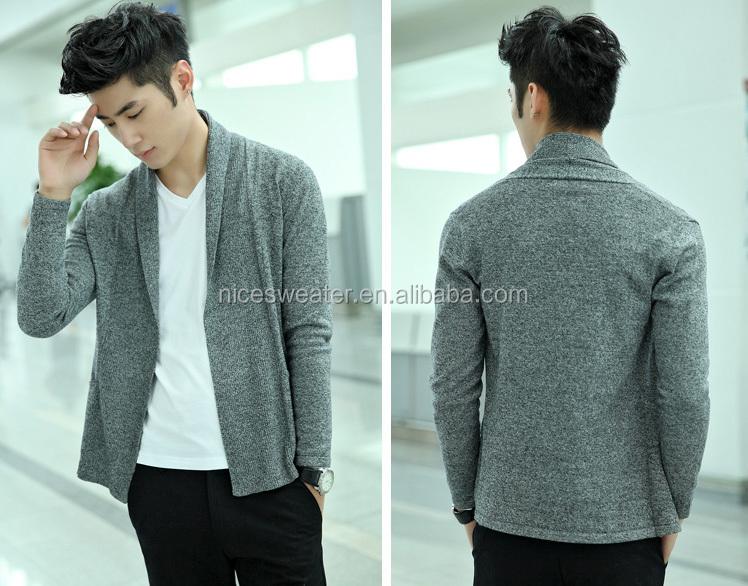 Latest Design Mens No Button Sweater Fashion Plain Knit Buttonless ...