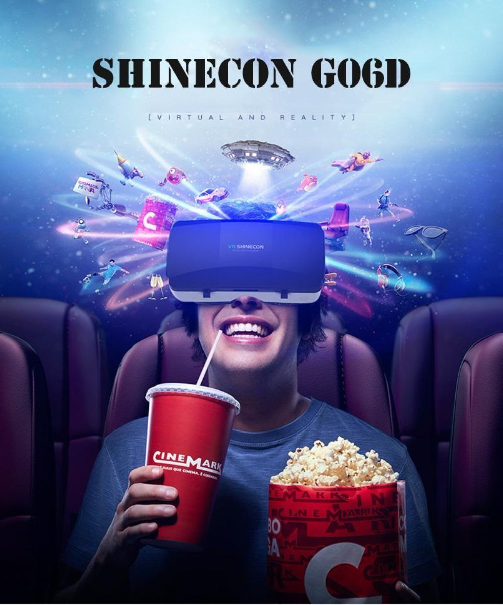 Shinecon G06D Virtual Reality with Remote for Iphone and Android Smartphone (Only VR)