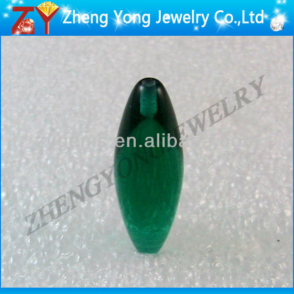 cabochon face bullet shape glass gemstone