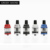 Top filled e cigarette vape mod kit 80W Box mod with 0.3 ohm glass tank