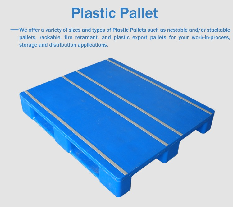 4-way entry single faced style hygienic HDPE food grade plastic pallet