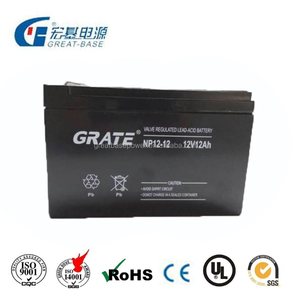 Rechargeable Sealed Lead acid UPS/Solar battery 12V12AH