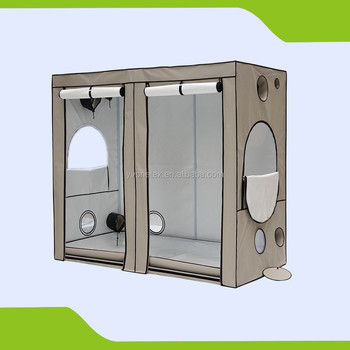 PVC Free 600D Green House Grow Tent for Dark Room Uses 240 x 120 x 200 & Pvc Free 600d Green House Grow Tent For Dark Room Uses 240 X 120 X ...