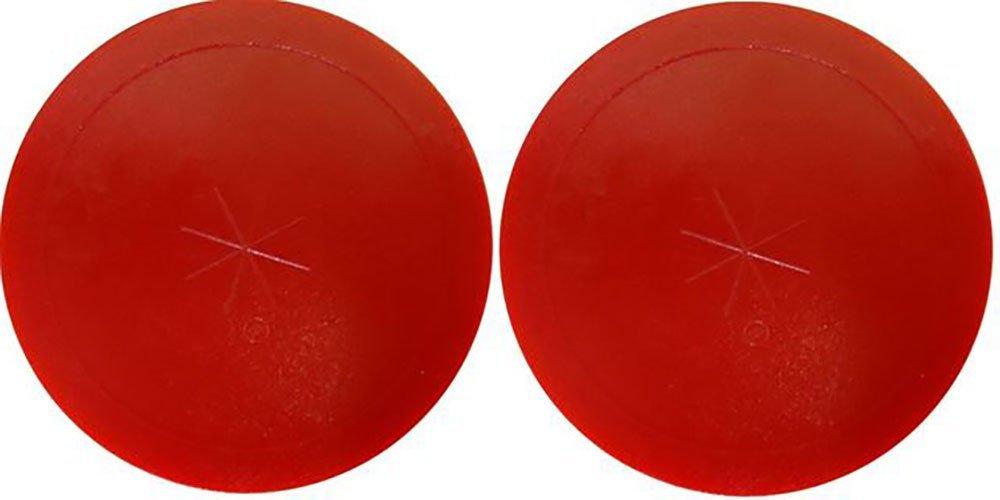 "3-1/4"" Shelti Red Air Hockey Puck - Set of 2"