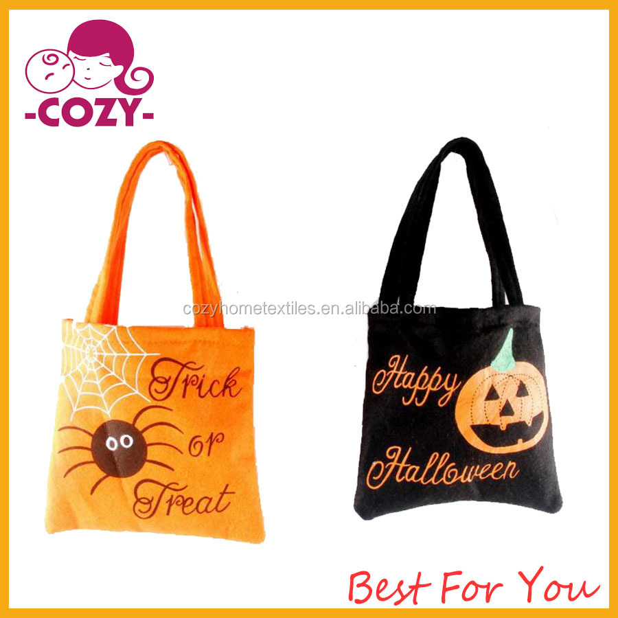 2017 Halloween Candy Goody Bag Basket Bucket Treat or Trick Hand Bag Festival Party Bags