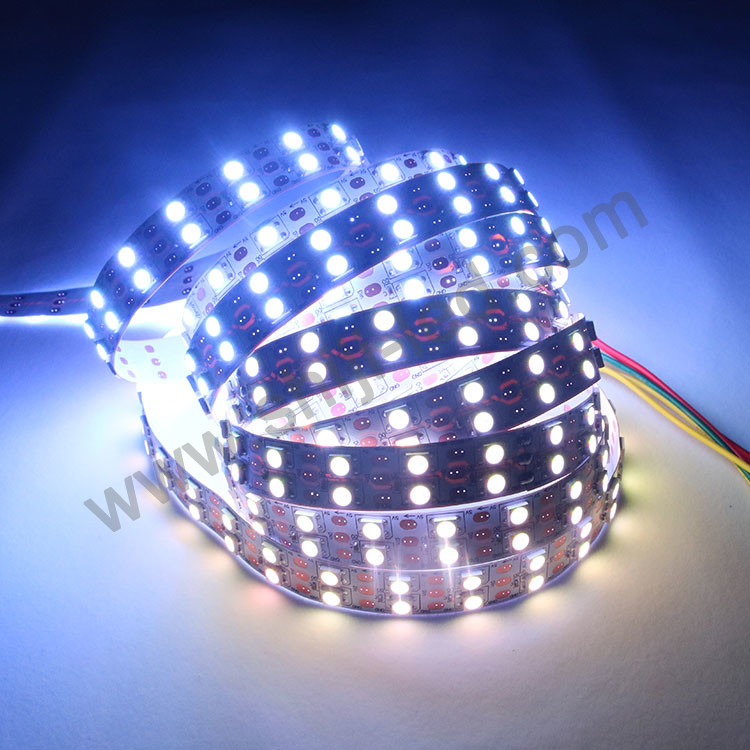 New Double rows Dc5v Sk6812 120 Led Strip Color Changing Led Tape Light Digital Strip <strong>Rgb</strong>