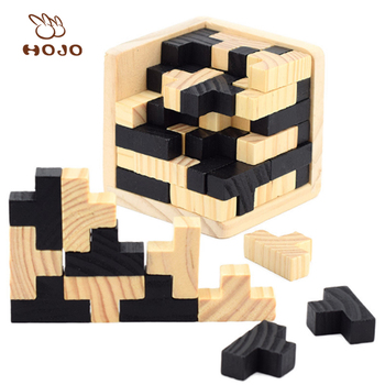 Wholesale educational toy 3d wooden puzzle and durable wooden snake in toys hobbies