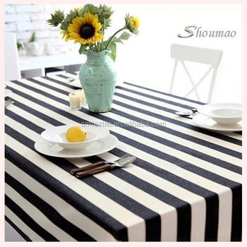 Hot Sale Cheap Black And White Striped Tablecloth Wedding Part 86