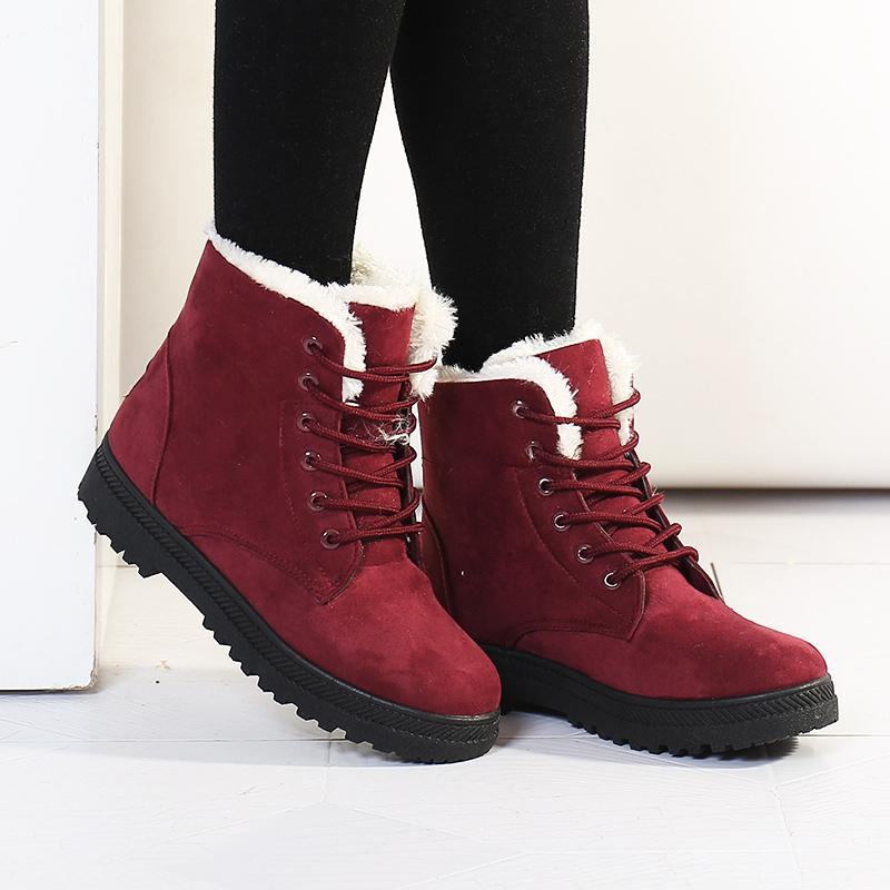 0923ffdf12c4 Снегоступы зима ботильоны женские сапоги обувь плюс бархат наличники обувь  бота feminina 2016 на платформе модные. 1 фото ...